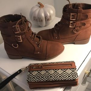 Ankle boots and wristlet